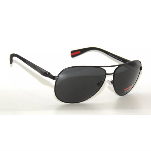 056797a70e1 Prada Sport Sunglasses 51O Black and Grey